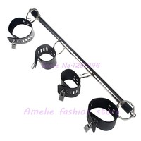 Restraint Stiff Stainless Steel Metal Spreader Bar With Hand Cuffs Adult Games Sex Products Sex Fun Tools Bundle bondage toys