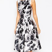 Chi Chi London All Over Floral Full Prom Skater Dress