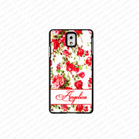 monogram Galaxy S5 case- monogram Personalized  flower pattern samsung Galaxy S5 case- fits S5 case, at&t, verison, T-mobile.sprint and international (white)