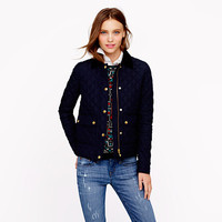 Quilted tack jacket