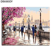 DRAWJOY Painting Calligraphy Framed Picture Painting By Numbers Home Decor DIY Oil Painting On Canvas For Living Room 40*50cm