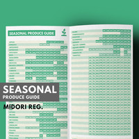 Midori Inserts, Seasonal Produce Guide for Healthy eating, Clean Eating Diet, Midori Refill, Midori Traveler's Notebook, Meal Planner