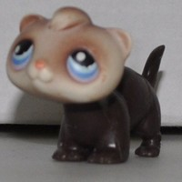 Ferret #33 - Littlest Pet Shop (Retired) Collector Toy - LPS Collectible Replacement Single Figure - Loose (OOP Out of Package & Print)