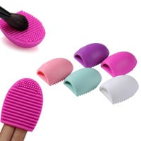 1pc Personal Makeup Brush Cleaner Finger Silicone Glove Scrubber Cleaning Tool Washing Cosmeetic Makeup Brush Cleaner