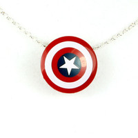 Avengers Captain America Shield Necklace From NEW LEGO Pieces