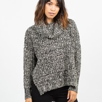 Thick Mixed Knit Sweater