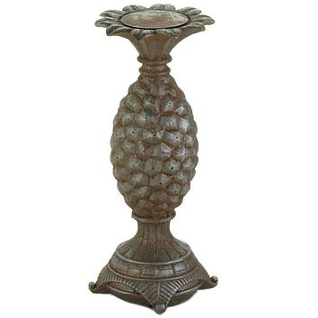 Pineapple Pillar Candle Holder - 12 inches