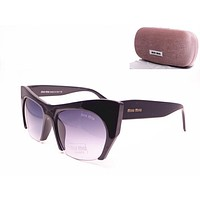 Sunglasses Miu Miu 02QS Black Cat-eye