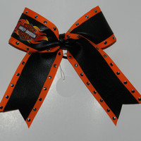 Double Layer Cheer Bow  Harley Davidson by ABCBows on Etsy