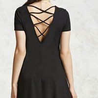 Crisscross Back Mini Dress