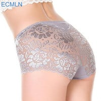 full transparent lace seamless string plus size Pantie
