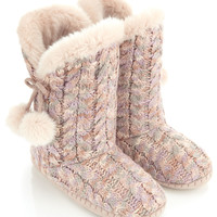Blossom Pom-Pom Slipper Boot | Camel | Monsoon