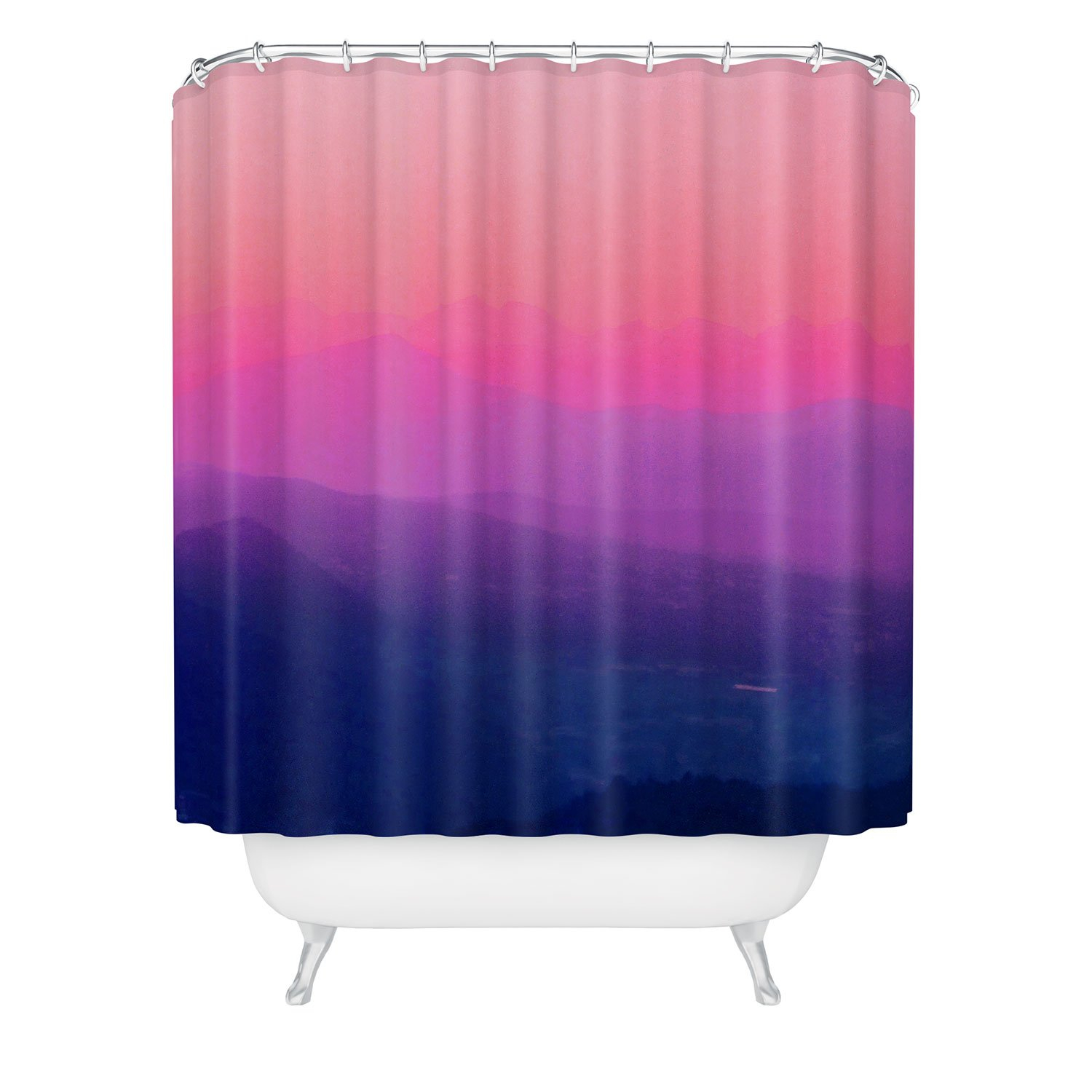 Image of Aimee St Hill Como Sunset Shower Curtain