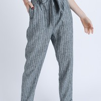 Straight To It Pants - Charcoal