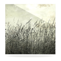 "Iris Lehnhardt ""Summer Grasses"" Neutral Gray Luxe Square Panel"