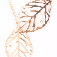 Gold High Polish Detailed Feather Design Think Chain Link Necklace