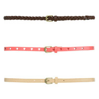 3 On Braided Belt Set   Shop Accessories at Wet Seal