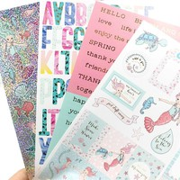 YPP CRAFT Lovely Mermaid Self- adhesive Paper Sticker for Scrapbooking/ DIY Crafts/ Card Making Decoration
