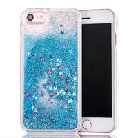 Hot Colorful Glitter Stars Dynamic Liquid Quicksand Case For iphone 7 Case For iphone7 7 Plus Back Cover Phone Cases Clear Capa