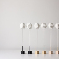 Geometric Paper Sculptures Set of Two by thevintagevoguestory