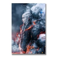 Game of Thrones 7 Silk Posters Wall Art Prints Painting 12x18 16x24 inch Decorative Pictures Living Room Decoration Daenerys 01