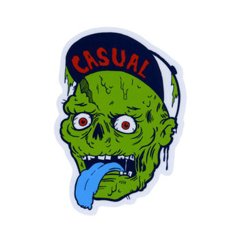 Casual Industrees Zombie Sticker Green One Size For Men 20375650001