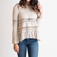 Long Way From Home Taupe Sweater
