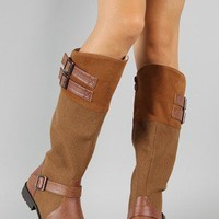 NB200-17 Buckle Riding Knee High Boot