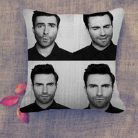 Cute Adam Levine Pillow Case/ Pillow Cover/ 16 x 16/ 18 x 18/ 16 x 24/ 20 x 30/ 20 x 36