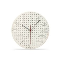 DCI Word Search Wall Clock