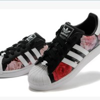 Adidas Fashion Shell-toe Flats Sneakers Sport Shoes Roses