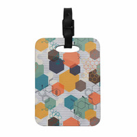 "Maike Thoma ""Biomolecular"" Science Multicolor Decorative Luggage Tag"
