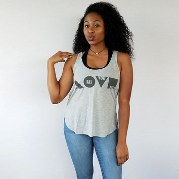 Love Is All You Need Tank (Grey)