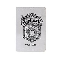 Slytherin Logo Leather Business Passport Holder Protector Cover_SUPERTRAMPshop