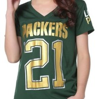 Womens NFL 21 Green Bay Packers Pink Victoria's Secret T-shirt
