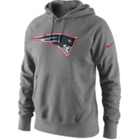Nike Fly Over (NFL Patriots) Men's Hoodie Size Large (Grey)