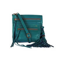 Stretta Small Leather Crossbody and Belt Hip Bag - Emerald Turquoise