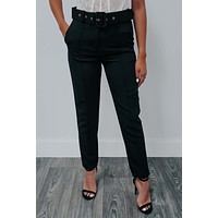 Out To Lunch Pants: Black