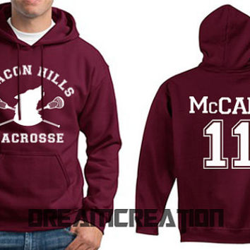 McCALL 11 Beacon Hills Lacrosse Wolf 11 Number  Teen Unisex Hoodie - Tumblr Text - Part 2
