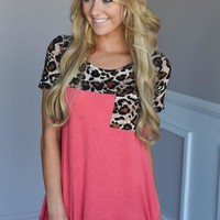 Find Your Peace Top ~ Coral