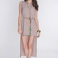 Taupe Belted High Low Hem Sexy Dress @ Amiclubwear sexy dresses,sexy dress,prom dress,summer dress,spring dress,prom gowns,teens dresses,sexy party wear,women's cocktail dresses,ball dresses,sun dresses,trendy dresses,sweater dresses,teen clothing,evening