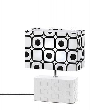 Modern Black And White Shapes Table Lamp
