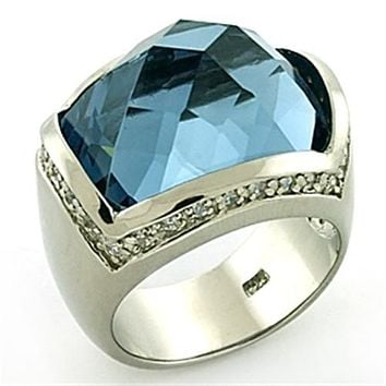 Sterling Silver Band Rings LOAS769 Rhodium 925 Sterling Silver Ring