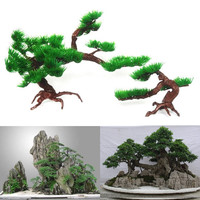 2x Artificial Plant Aquarium Fish Tank Rockery Bonsai Hotel Fish Aquatic Pet Supplies Ornament Decor V1NF