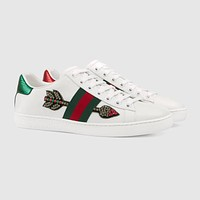 Gucci Ace Arrow Embroidered Low-top Sneaker