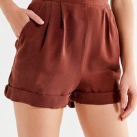 Urban Renewal Recycled Silky Cuffed Short | Urban Outfitters
