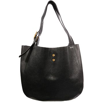 VTG 90S JIMMY CHOO LEATHER SLOUCHY TOTE BAG
