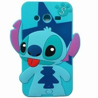 Thunderous 3D Tongue out Stitch & Lilo Silicon Gel Rubber Case Cover Skin For Samsung Galaxy Grand Prime G5308W SM-G530H