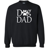 "Zexpa Apparelâ""¢ Dog Dad Paw Print Unisex Crewneck Dog Dad Dog Mom rescue dog Sweatshirt"