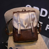 Casual Comfort Back To School College Hot Deal On Sale PU Leather Soft Stylish Simple Design Backpack [6582344583]